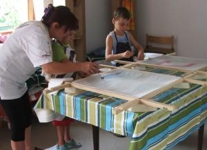 Selyemfestés gyerekekkel